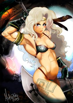 Amazon Dragons Crown V1 by MaKuZoKu