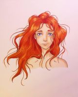 Kissed by Fire by MeluluDrawStuff