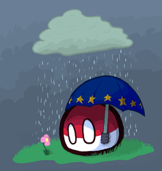 Poland In The Rain by Penguia1029
