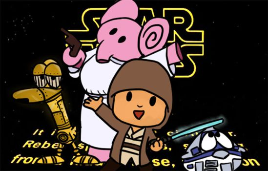Commission - Pocoyo Goes Star Wars by laylazer