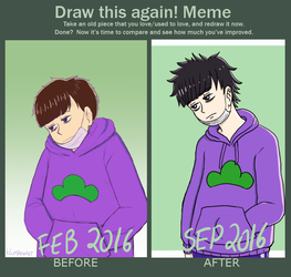 Draw this again meme by Chibiklompen