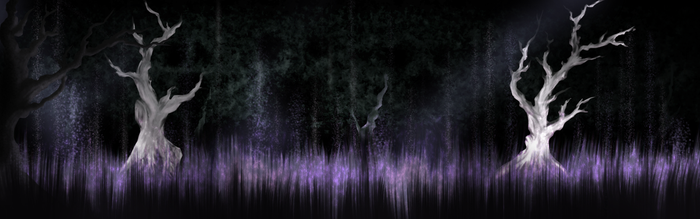 'Ghosts and spirits haunt these woods.' by RowanThePanda