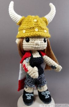 Custom Crochet - Captain Canada, alias Megan by CraftyTibbles
