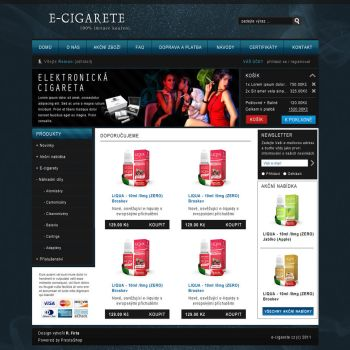 E-CIGARETE e-shop template by swift20