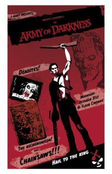 Updated Army of Darkness poster by J-WRIG