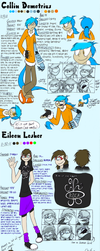 Collin and Eileen refs by iSpazzyKitty