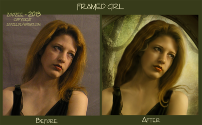 Before and After Framed Girl by zoozee