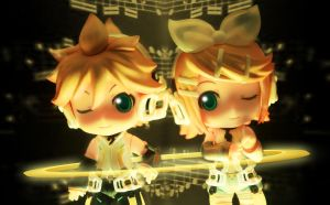 Kagamine Append by Bluemeowpanda