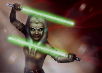 Commission - Ahsoka Tano by Arasteia