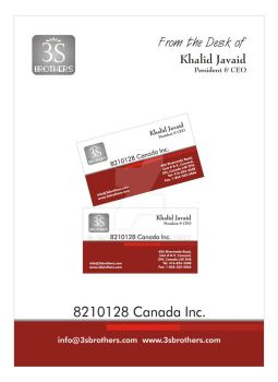 3S Brothers Business Card + Pad by asaleem
