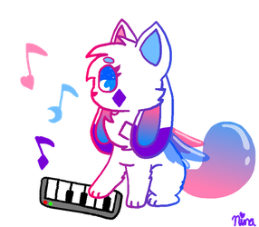 Crystal And The Keyboard (Another Gift) by flutteryoshi952