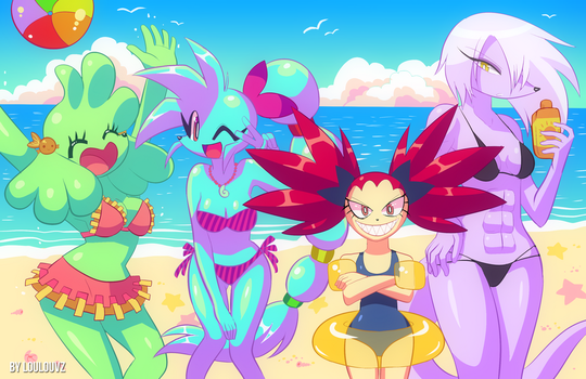 Spaicy girls at the beach! by LoulouVZ