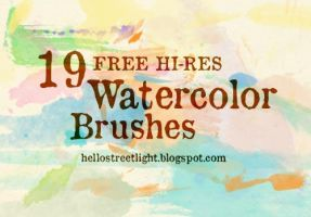 Free Brush Set 12: Watercolor (stamp brushes) by tau-kast