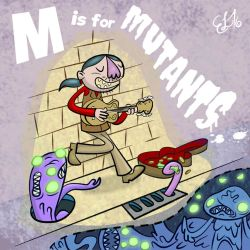 ALPHAMABET OF DANGEROUS - M is for MUTANTS by FLUMPCOMIX