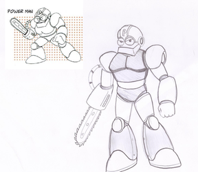 Power man [rejected robotmaster] by Dynamo07X