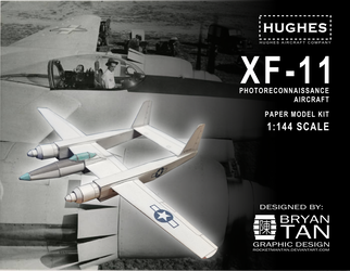 Hughes XF-11 Paper Model Kit by RocketmanTan