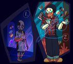 undertale inspired skele-adopts:OPEN [PAYPAL] by Fel-Fisk