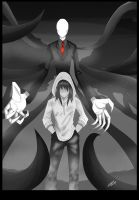 Slenderman and Kate by Shikidark