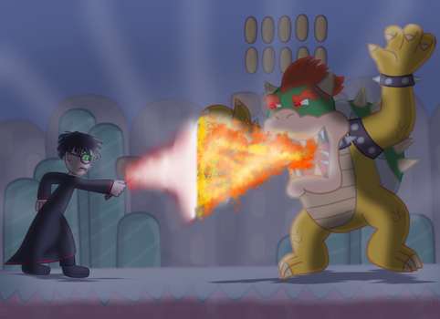 Harry Potter VS Bowser The Koopa King by EtherealDreamCloud