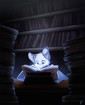 Com: Late Night Studying by DragginCat