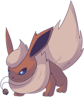 Dome Fossil Booster| Flareon Commission by AutobotTesla
