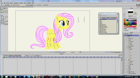 A better Fluttershy puppet rig, Anime Studio by treypol3