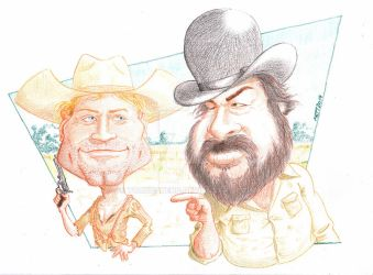 Bud Spencer and Terence Hill by toongsteno