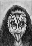GENE SIMMONS by LuciforusArt