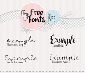 4 free fonts by Isfe