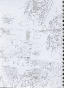 X-wing Rouge Squadron Page 59 Sketch by Zacky-Bullet