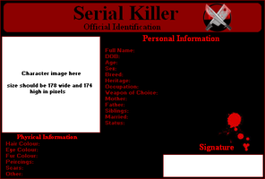 Serial Killer ID Template by data-7-panther-dude