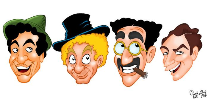 The 4 Marx Brothers by DanDav87