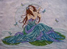 Water Goddess Cross Stitch by Tishounette