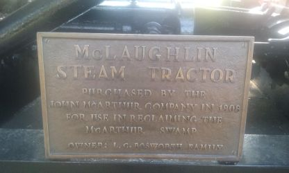 Giant Steam Tractor's plaque by Duel-Express