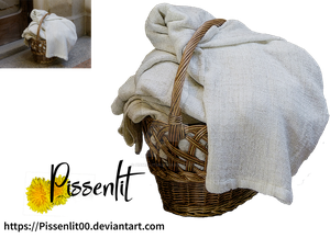 Basket with linen by Pissenlit00
