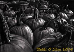 Pumpkin Patch in Pencil by DragonPress
