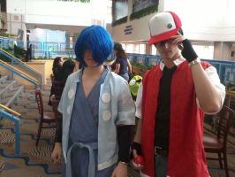 TRAINER RED and LEADER FALKNER want to battle! by dookieshed