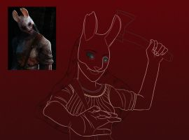 Dead by Daylight Poster WIP - The Huntress by imajanaeshun
