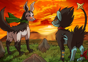Mightyena and Luxray