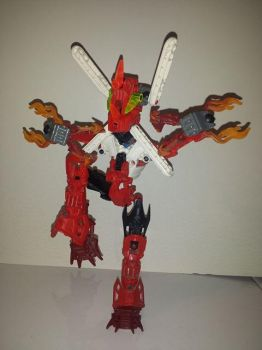 Bionicle Mega Blaziken by LeaderZ