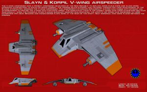 V-Wing airspeeder ortho [New] by unusualsuspex