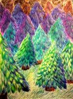 Colors of the pine by CatchingSupernova