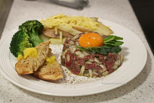 Homemade Steak Tartare by tawunap159