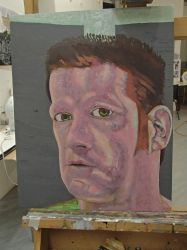 Self Portrait Competition Painting WiP4 by JohnMKimmins