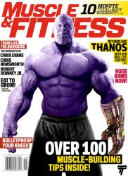 Thanos Muscle and Fitness Cover by Timetravel6000v2