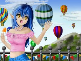 Bluebell at the Balloon Race by Outraejss