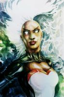 Watercolored X-Men Ororo Munroe (Storm) by dreamflux1