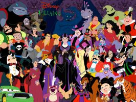 Disney Villains Gang by NathanHumphrey