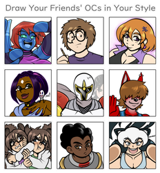 Draw your Friends' OCs in your style - Vol.1 by VR-Hyoumaru
