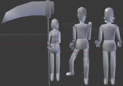 Project SE64 Character Model Pose Preview by ASoulOfVirgoBoy